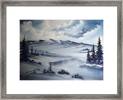 Snow On The Range Framed Print by John Koehler