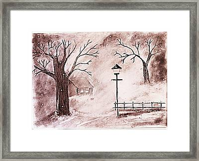 Snow Framed Print by Sanjay Avasarala