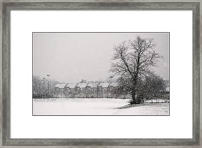 Snow Scape London Sw Framed Print by Lenny Carter