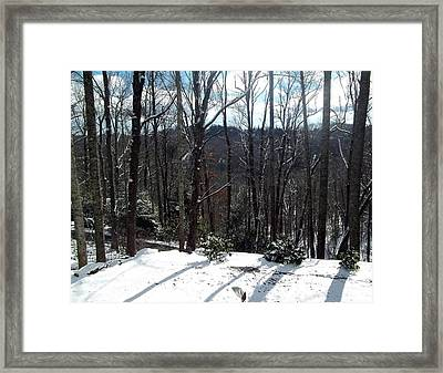 Snow Shadows Framed Print by Brianna Thompson