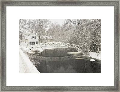 Snow Storm In Somesville Mount Desert Island Maine Photograph Framed Print by Keith Webber Jr