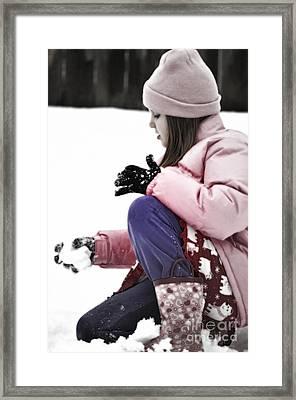 Snow Studies Framed Print by Gwyn Newcombe