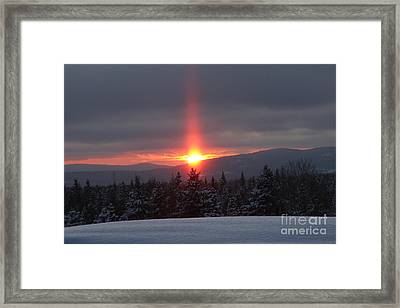 Snow Sunset Framed Print