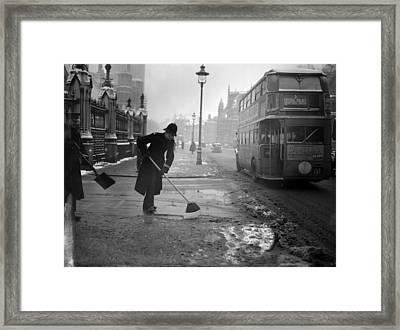 Snow Sweeper Framed Print by Bush