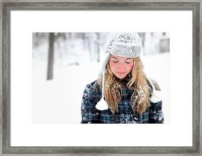 Snow White Framed Print by Amanda St Germain