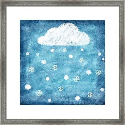 Snow Winter Framed Print by Setsiri Silapasuwanchai