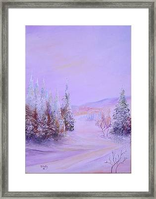 Snow1 Framed Print by Nabil Wehbe