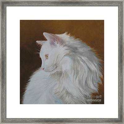 Framed Print featuring the painting Snowball by Jindra Noewi