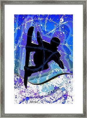 Snowboarder Framed Print by Stephen Younts