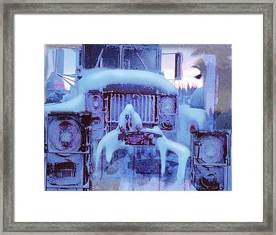 Snowbound Antique Truck Framed Print