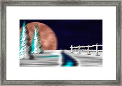 Snowbound Framed Print by Saad Hasnain