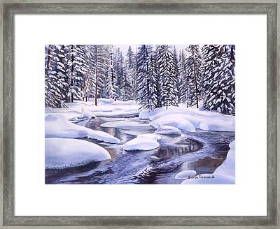 Snowbound Framed Print by Sharon Freeman
