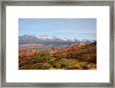 Framed Print featuring the photograph Snowcapped Foothills by Marta Alfred