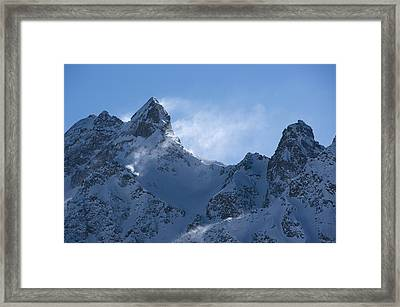 Snowdrift Formation Framed Print by Dr Juerg Alean