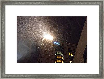 Snowfall In  Nyc Framed Print by Dmitriy Tucker