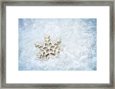 Snowflake Framed Print by Darren Fisher