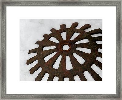 Snowflake Framed Print by Odd Jeppesen