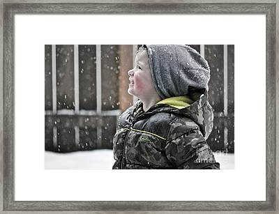 Snowflake Thoughts Framed Print by Gwyn Newcombe