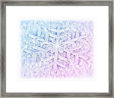 Snowflake Winter Background Framed Print