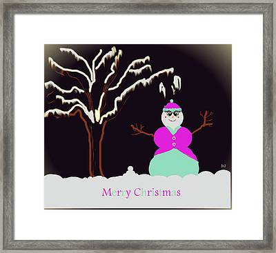 Snowlady Framed Print by Jan Steadman-Jackson