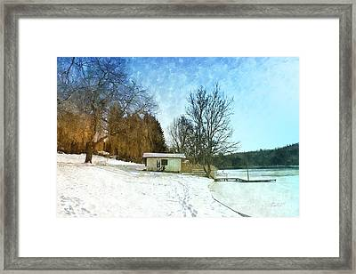 Snowy Beach Framed Print