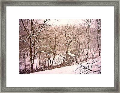 Snowy Country Day Framed Print by Betsy Knapp