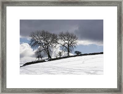 Snowy Field, Weardale, County Durham Framed Print by John Short