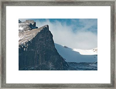 Snowy Flatirons Framed Print by Colleen Coccia