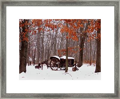 Snowy Implement Framed Print by Ed Golden