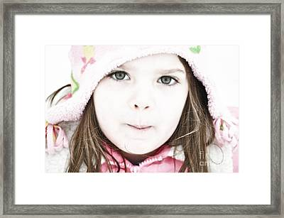 Snowy Innocence Framed Print by Gwyn Newcombe