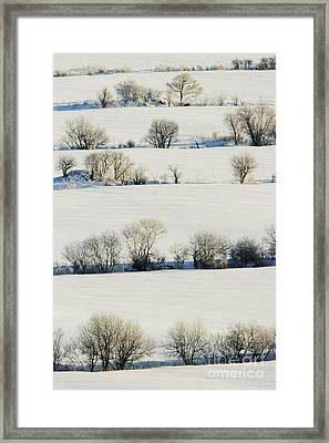 Snowy Landscape Framed Print by Jeremy Woodhouse