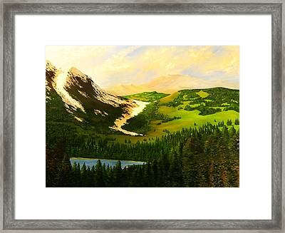 Snowy Mountain Framed Print by Nelson