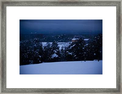 Snowy Night Framed Print by Christina Durity