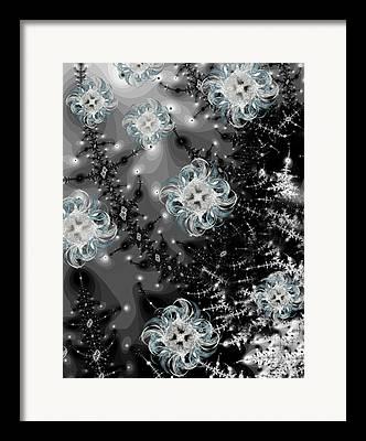 Snowy Evening Framed Prints