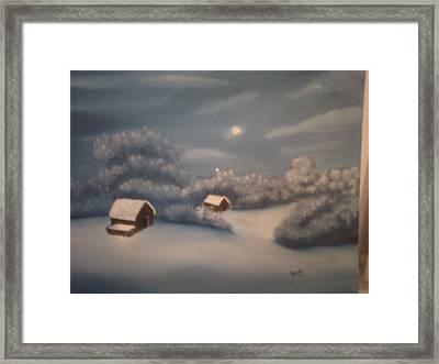 Snowy Night Framed Print by Thomas Hayes
