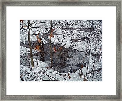 Snowy Pond Framed Print by Aimee L Maher Photography and Art Visit ALMGallerydotcom