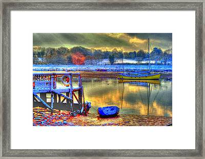 Snowy River Sunset Framed Print by Jane James