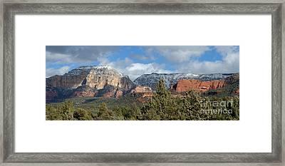 Snowy Sedona Afternoon Framed Print by Sandra Bronstein