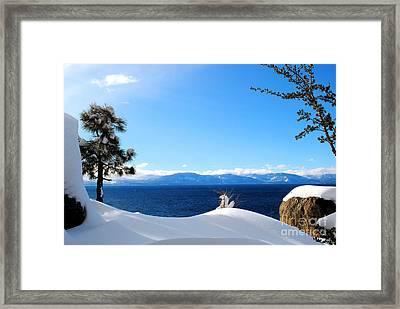 Snowy Tahoe Framed Print by Sean McGuire