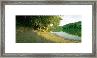 Snyders Landing On The Potomac Framed Print by Jan W Faul