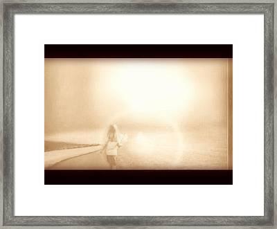 Framed Print featuring the digital art So Far by Beto Machado