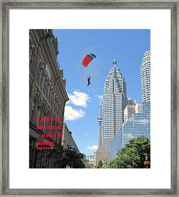 So Much For Skydiving Framed Print by Ian  MacDonald