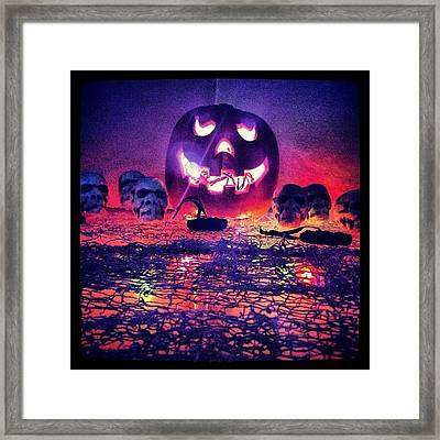 So Ready For Halloween ! Framed Print