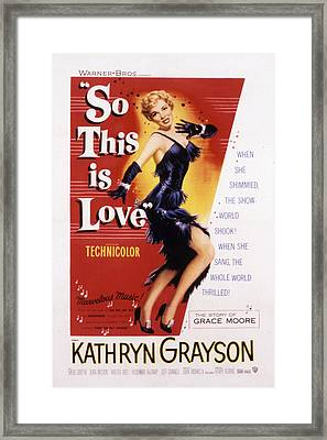 So This Is Love, Kathryn Grayson, 1953 Framed Print by Everett