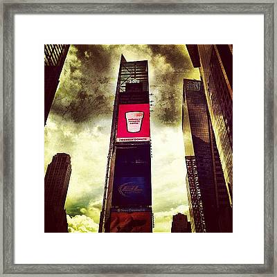 So This Is Why Dunkin Donuts Advertises Framed Print