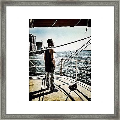 Soaking In The View Framed Print