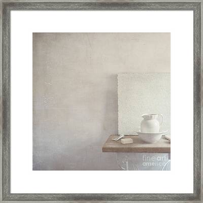 Soap And Jug Framed Print by Paul Grand