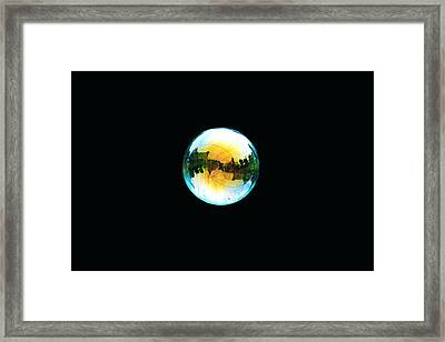 Soap Bubble Framed Print by Sumit Mehndiratta