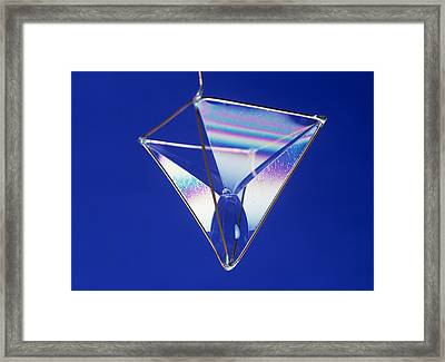 Soap Films On A Pyramid Framed Print