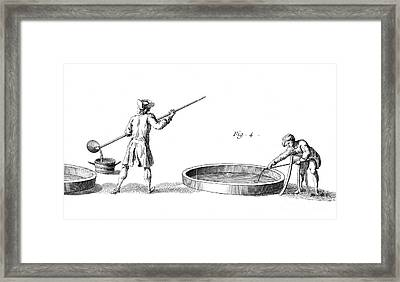 Soap Manufacture Framed Print by Granger